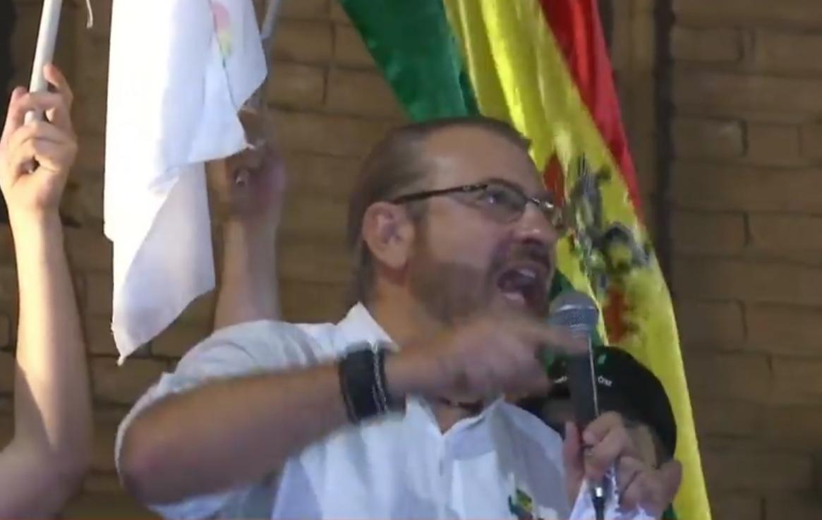 """Calvo advierte a Arce con desobediencia civil """"si no respeta el derecho de cada uno de nosotros"""""""