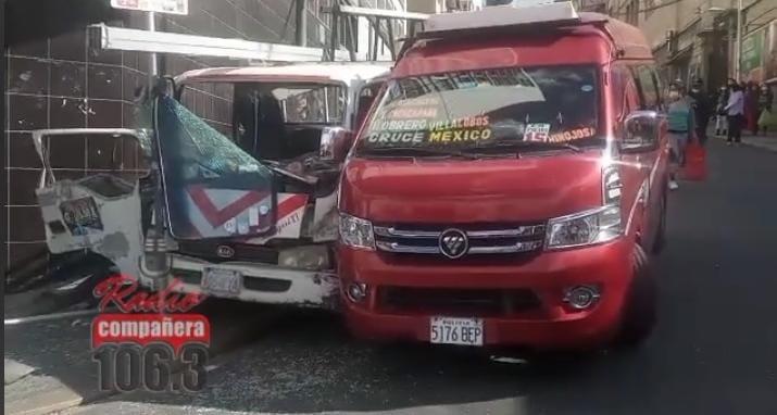 Accidente en el centro paceño deja un fallecido y tres heridos