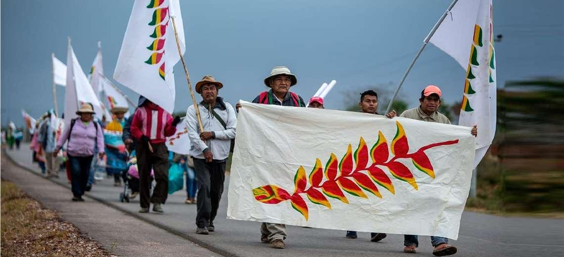 Marcha indígena reitera su pedido de dialogar con los tres poderes del Estado para lograr reconocimiento