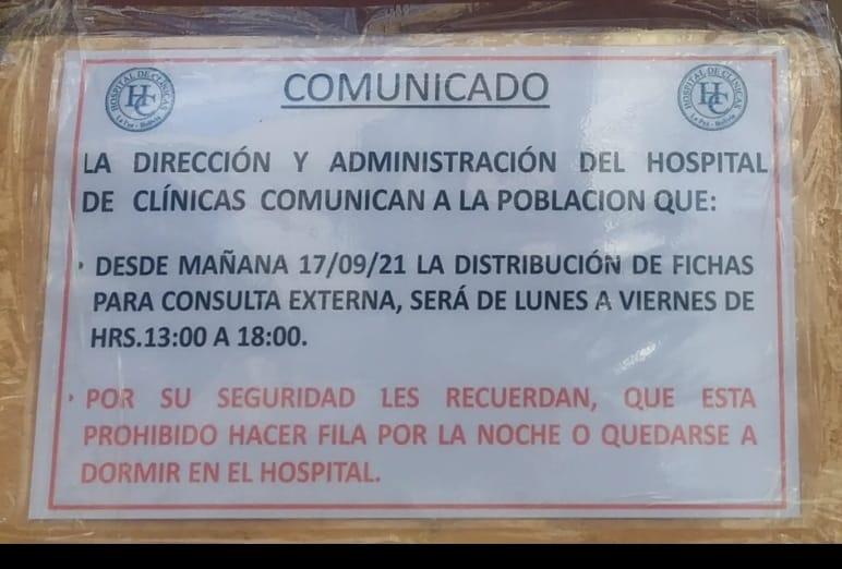 Hospital de Clínicas entregará fichHospital de Clínicas entregará fichas de 13:00 a 18:00 para evitar filas desde la madrugadaas de 13:00 a 18:00 para evitar filas desde la madrugada