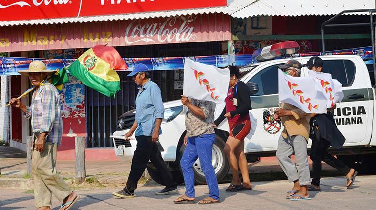 Marcha indígena llega a la capital cruceña e ingresa este jueves a la plaza 24 de Septiembre
