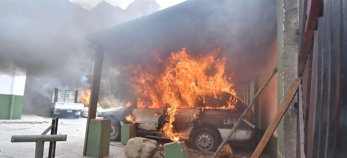 Tres cocaleros fueron aprehendidos y son acusados de incendiar un módulo policial