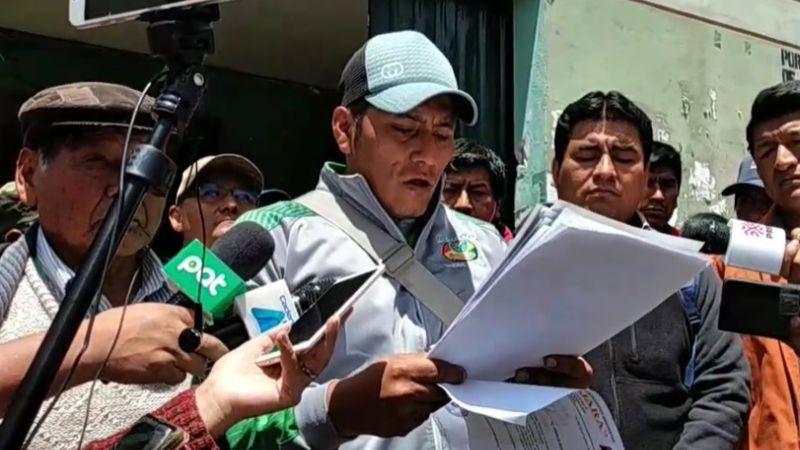 Adepcoca anuncia protestas en rechazo al mercado de coca de Alanes