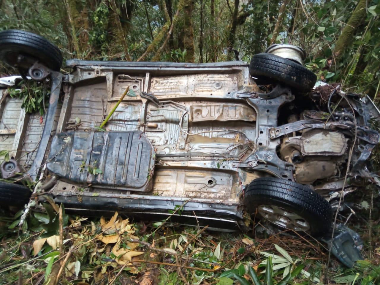 Embarrancamiento de vehículo en Chuspipata deja dos muertos