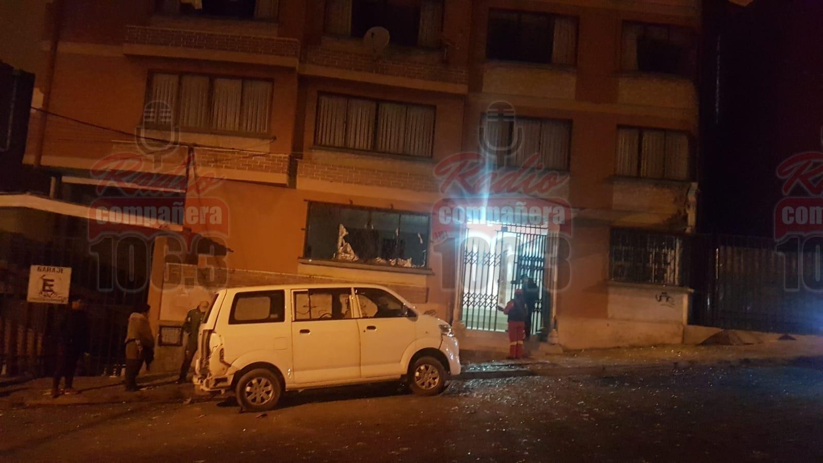 Bomberos confirma que cuatro viviendas fueron afectadas por la explosión en Adepcoca