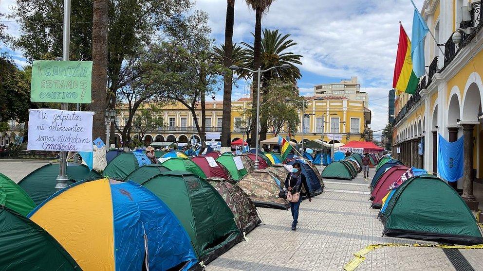 Instalan vigilias en Cochabamba y Sucre por la audiencia de Reyes Villa