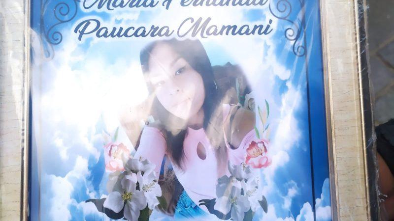 Familiares y activistas piden justicia y una investigación adecuada para esclarecer la muerte de María Paucara