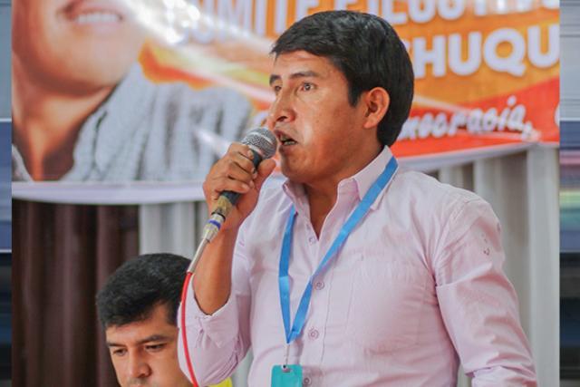 """Gobernación considera que proceso contra Condori es falso y se trata de una """"persecución política"""""""