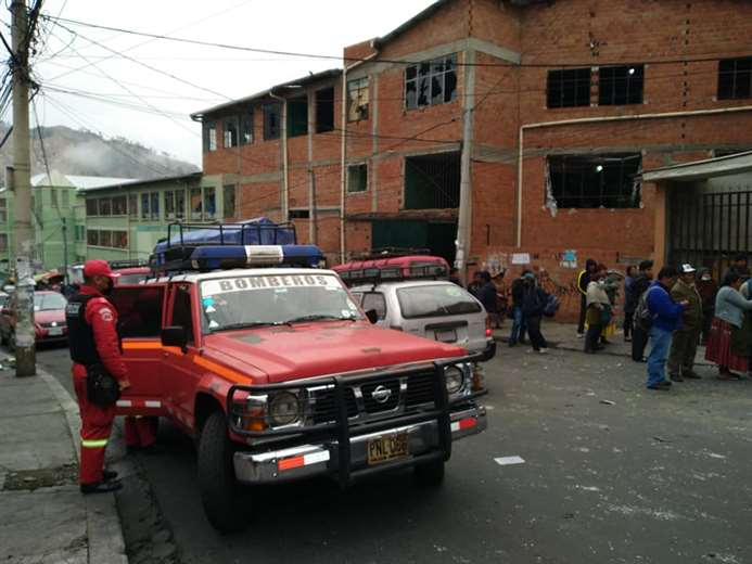 FELCC verificará cámaras de seguridad del lugar de la explosión en cercanías de ADEPCOCA