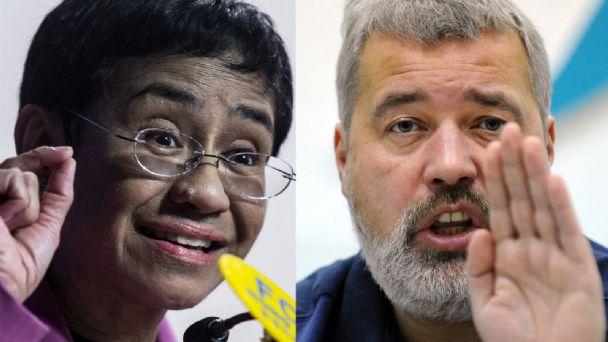 Premio Nobel de la Paz para filipina Ressa y ruso Muratov